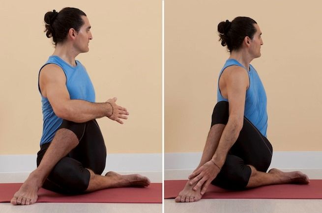 Ardha Matsyendrasana : position de demi-torsion